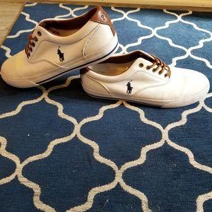 Mens Ralph Lauren white sneaker Shoes size 10